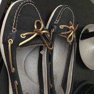 Sperry top siders womens 8.5 navy gold